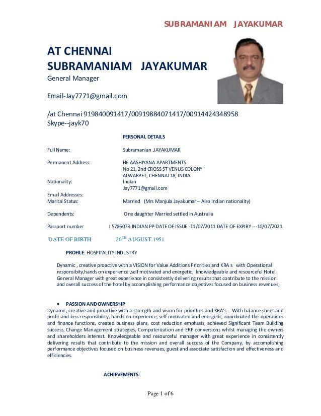 hotel manager resume hotel manager cv template job description cv