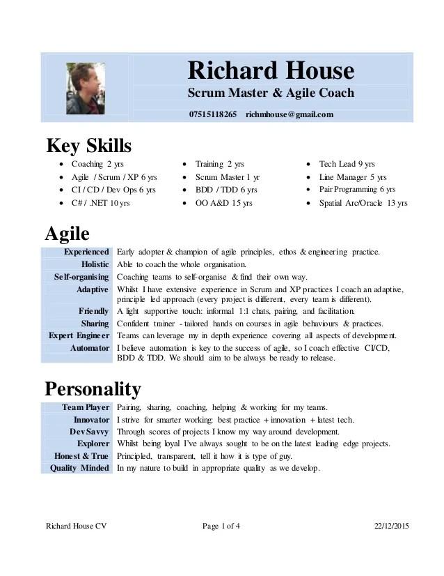 cv coach agile