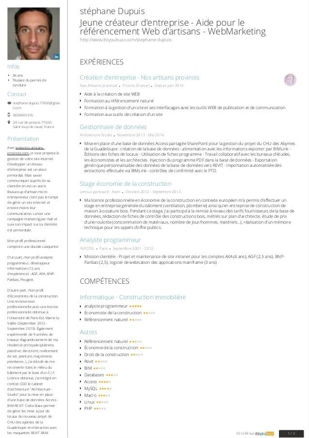 createur de cv format pdf