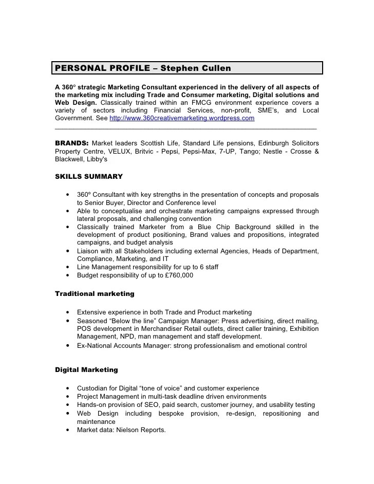 Sales Trainer Resume Sample Sales Resumes Livecareer Cv Stephen Cullen