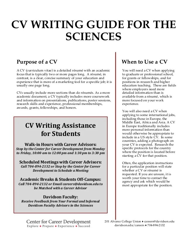 guide to resume writing - Juvecenitdelacabrera