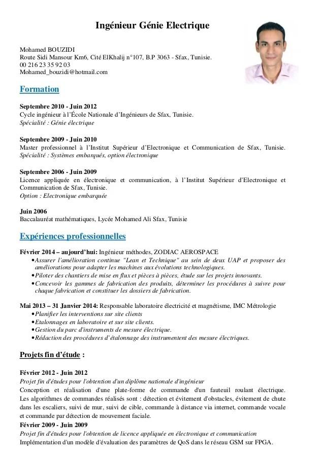 cv ingenieur systeme embarque pdf