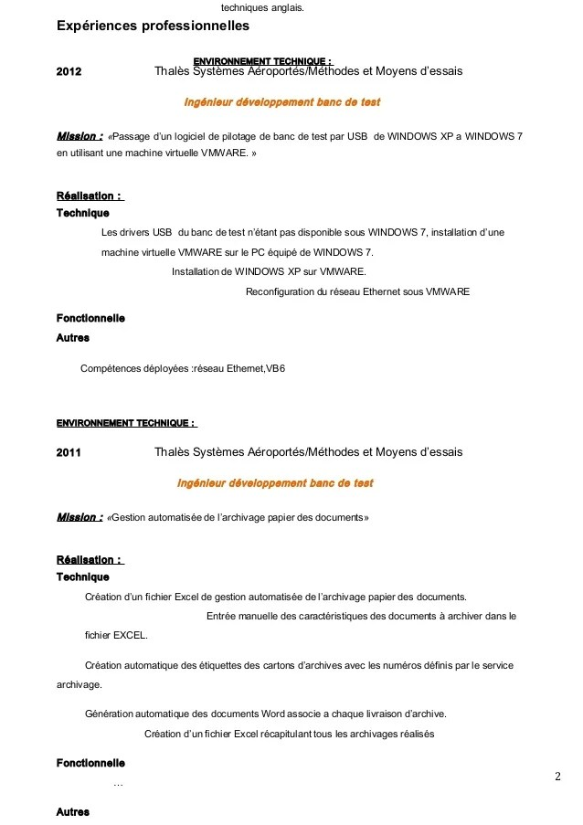 competences cv traduction des documents