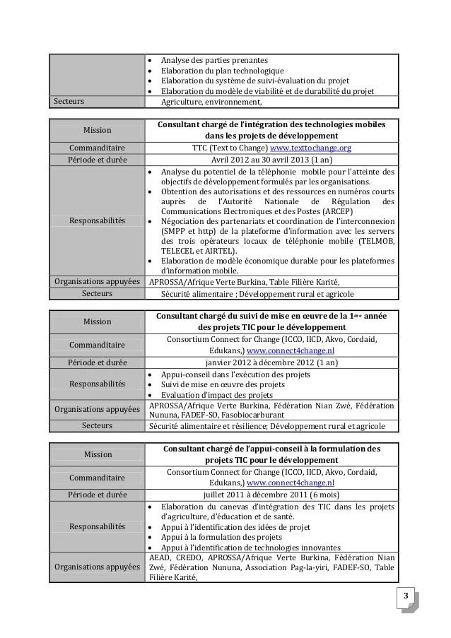 modele de cv de charge e de suivi