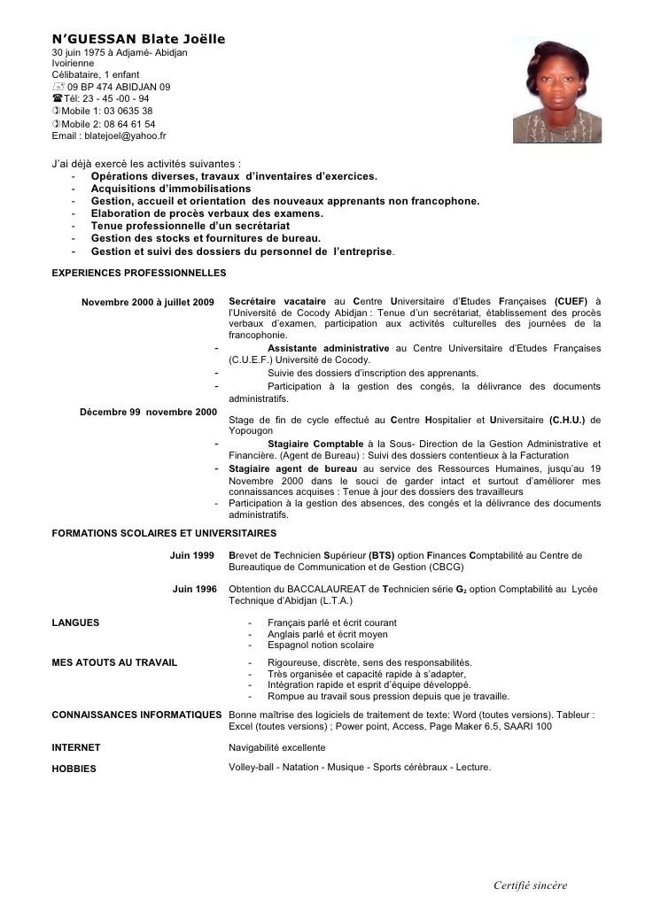 exemple cv assistant technique et administratif