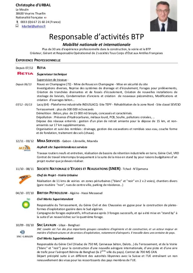 exemple cv ingenieur agroalimentaire