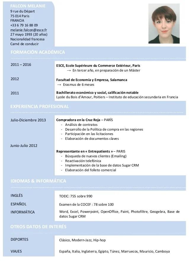 cv espanol pdf