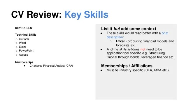 How To List Office Software Skills On A Resume Thoughtco The 2014 Cv