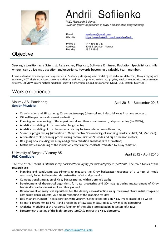 publication cv linkedin