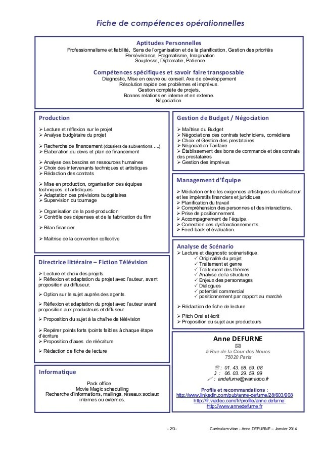 exemple de cv regisseur technique
