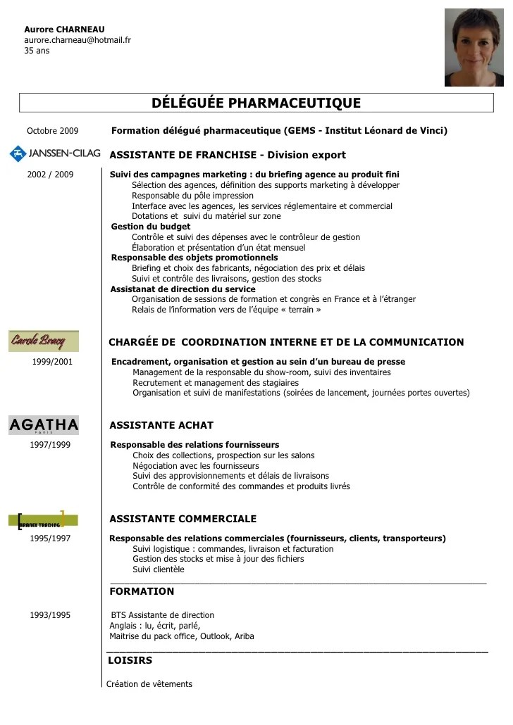 exemple de cv commercial export