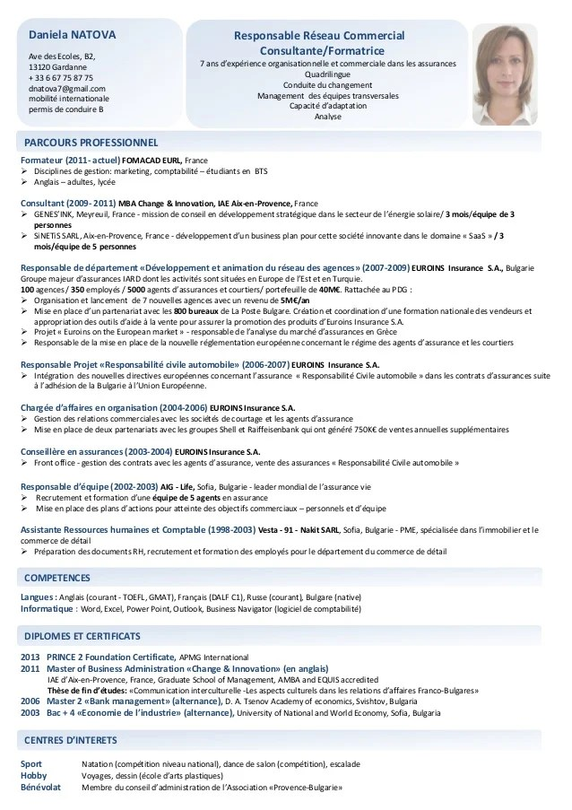 exemple de cv manager informatique