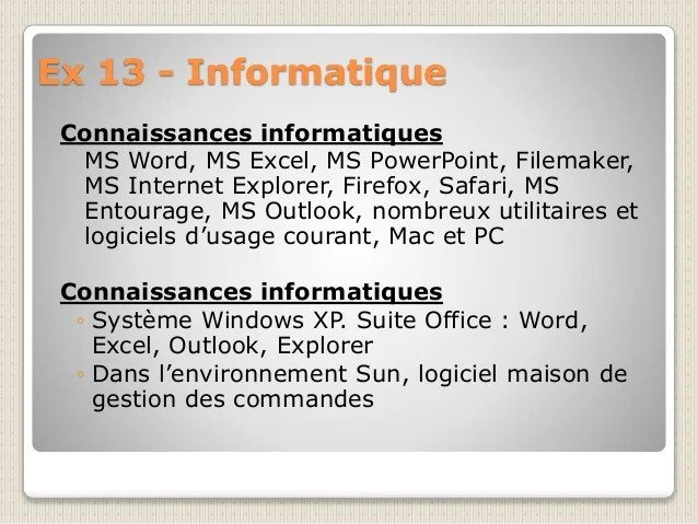 liste de competence informatique cv