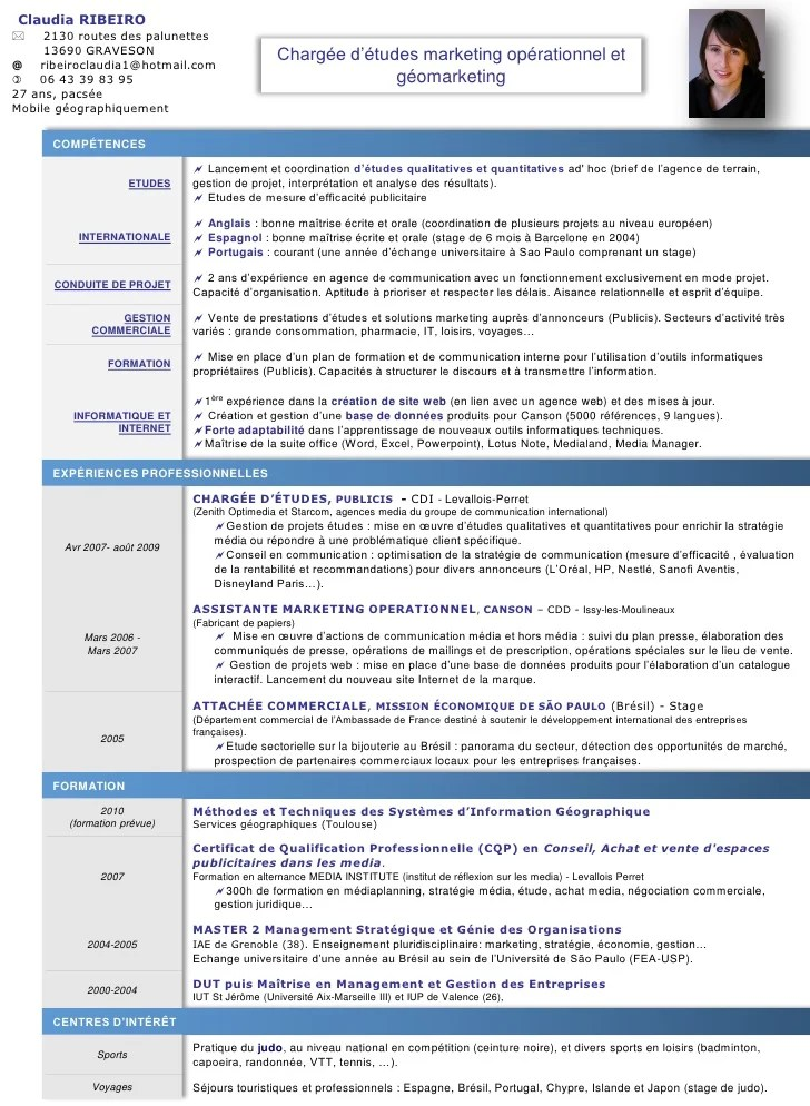 cv assistant marketing operationnel