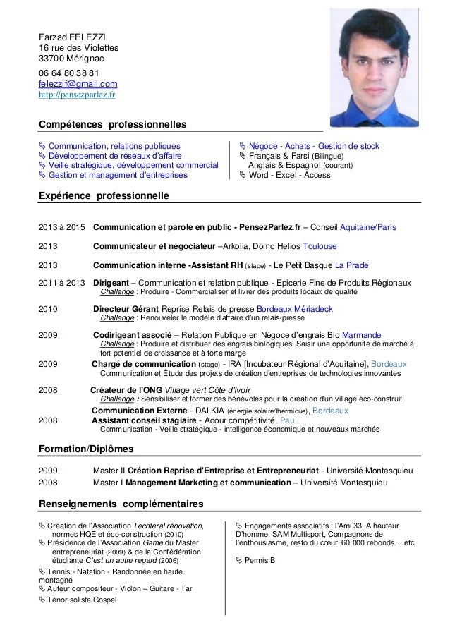cv communication competences