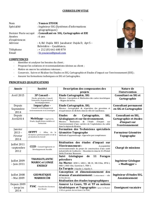 exemple cv chef de projet informatique junior
