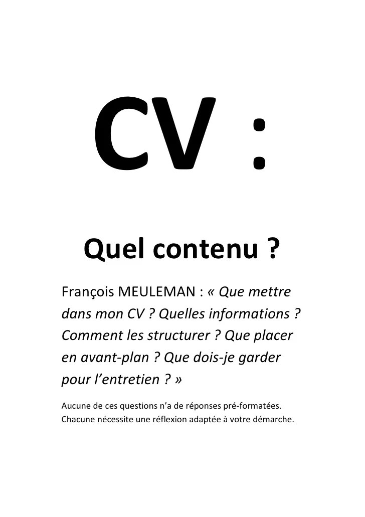 quelles photos our cv