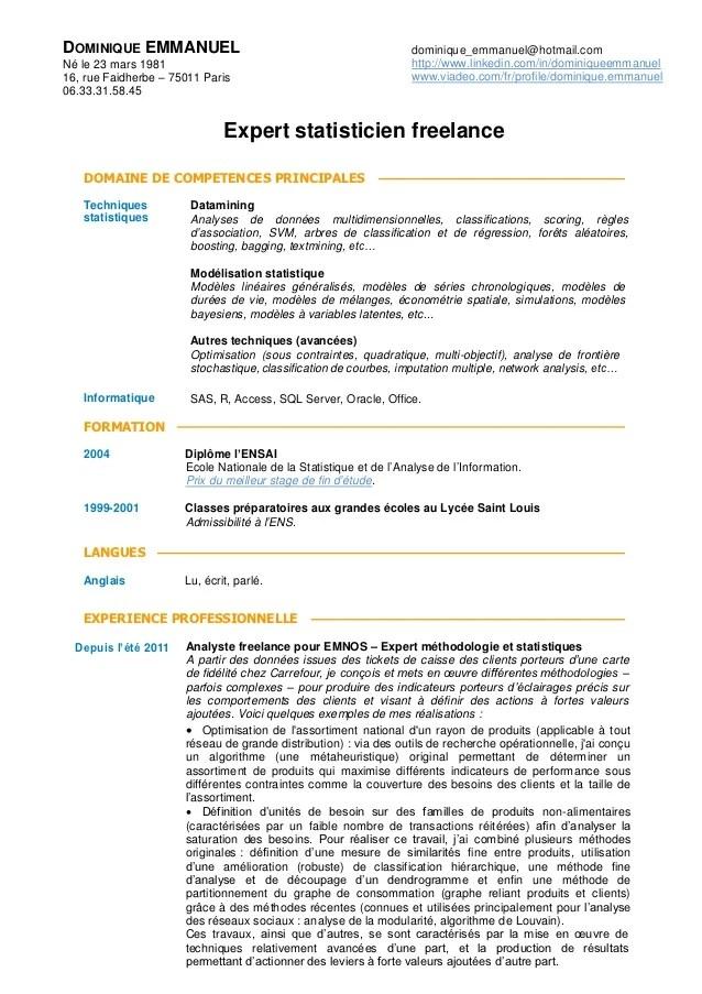 statistique competences cv