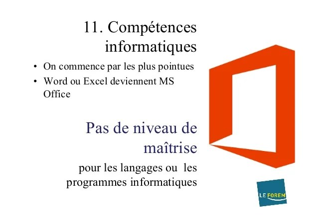 cv mode competences