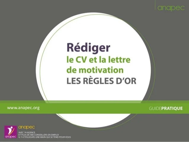 a redaction de cv et lettre de motivation
