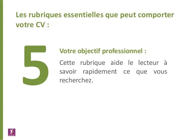 objectif professionnel cv ressources humaines