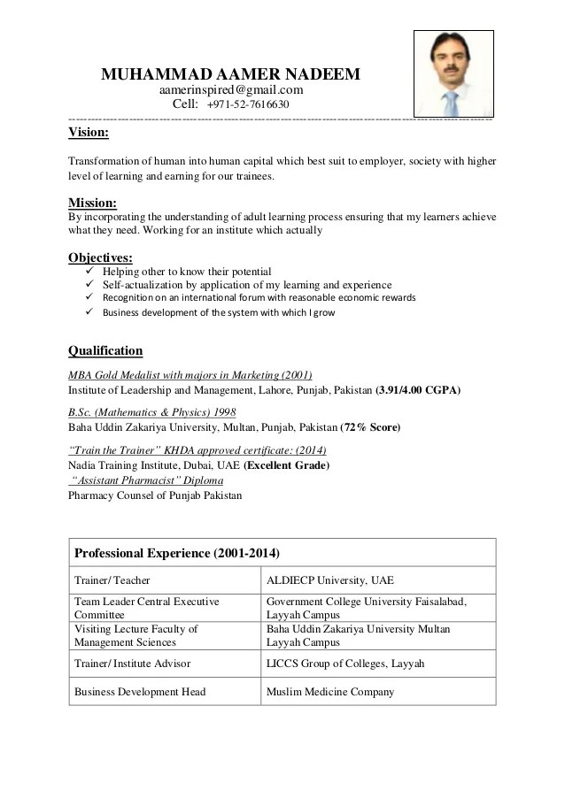 Cv Templates Download Free Sample Resume Cover Letter Format Cv For Trainer And Teacher