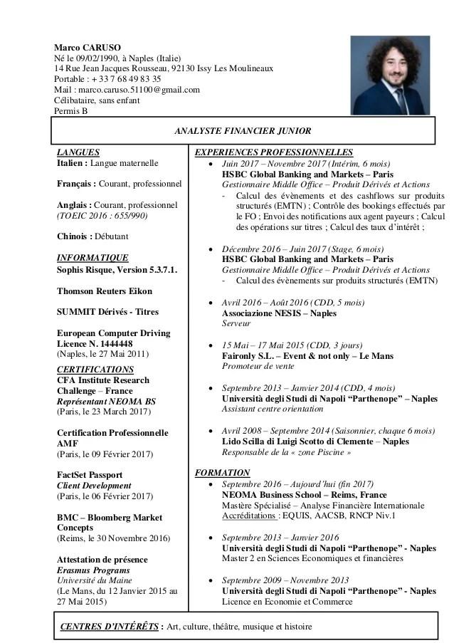 certification amf cv