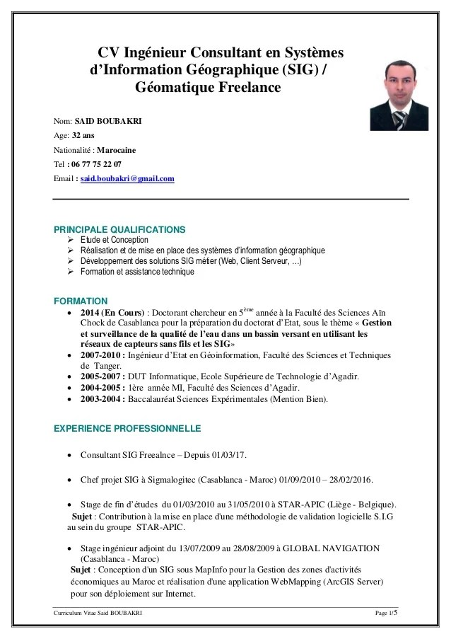 divers in english cv