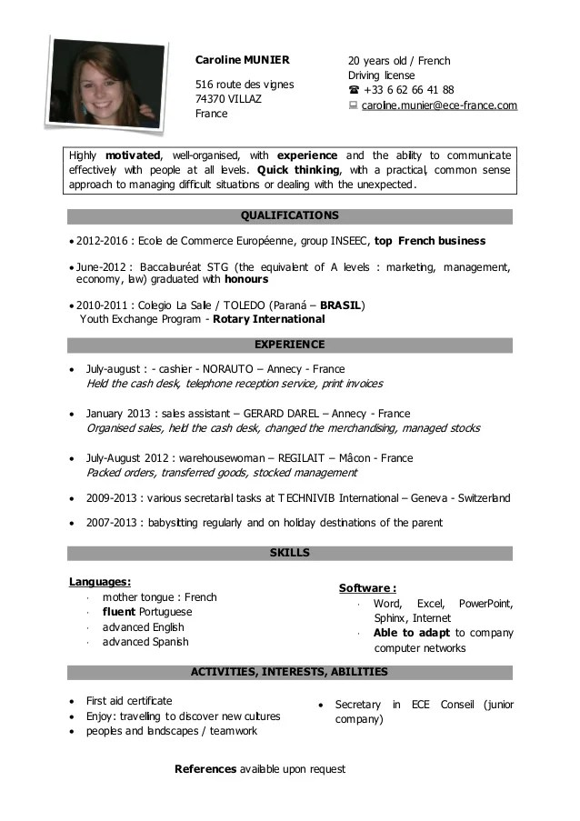 civiweb photo cv