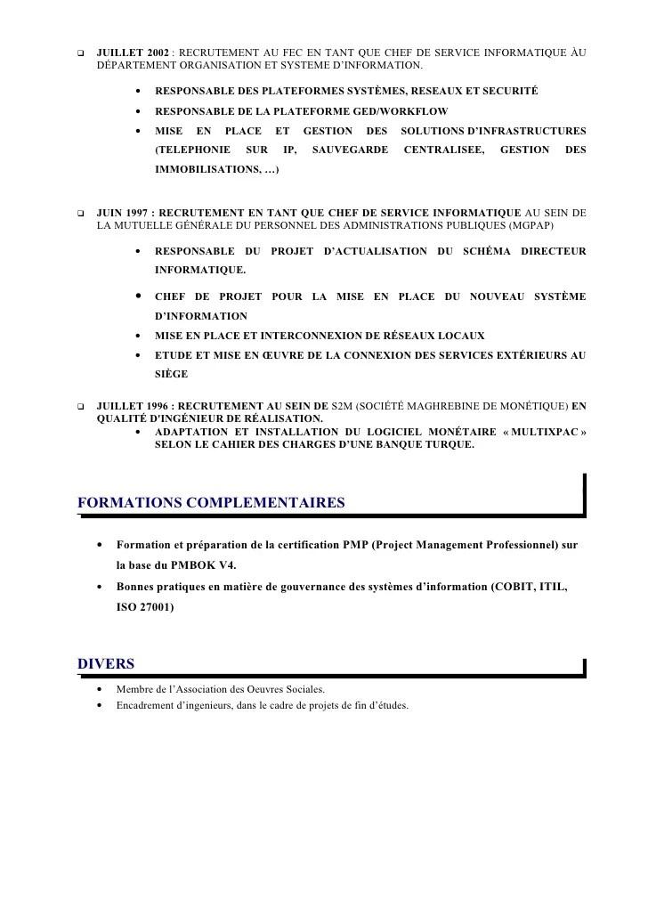 cv directeur systeme d information