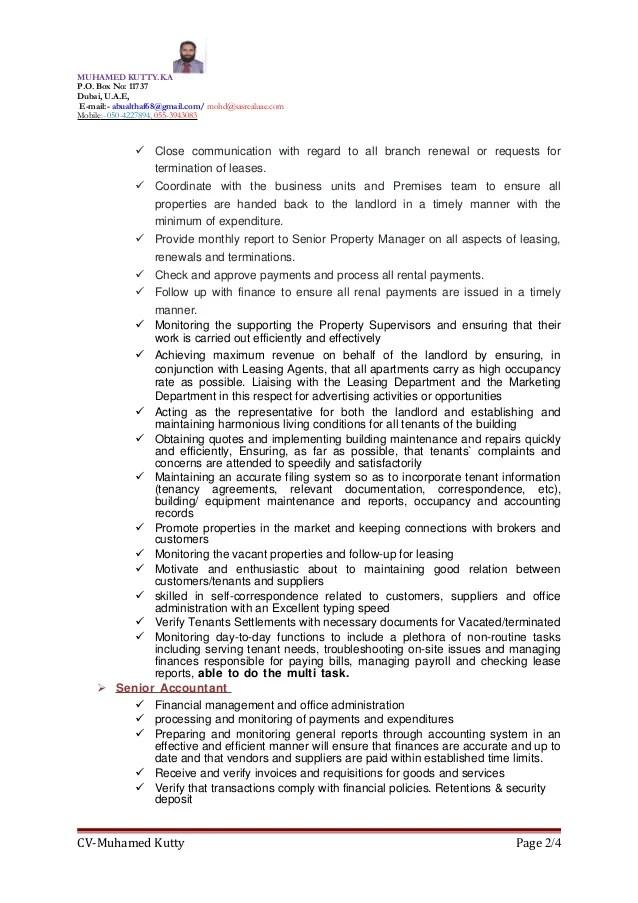 property leasing manager resume cvresumeunicloudpl