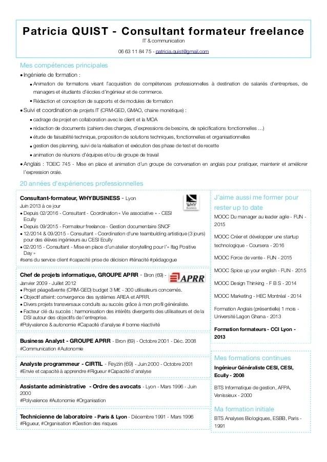 cv formateur logiciel