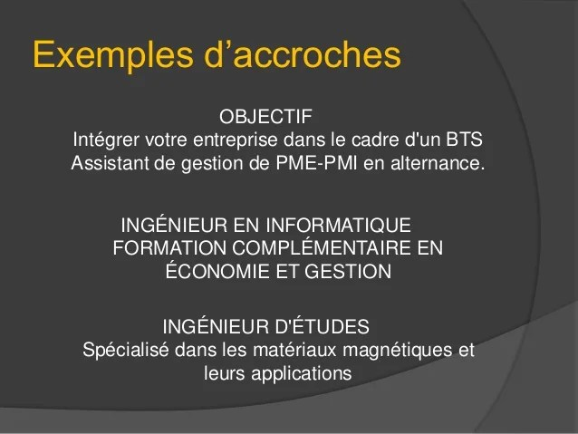 cv video exemple de script