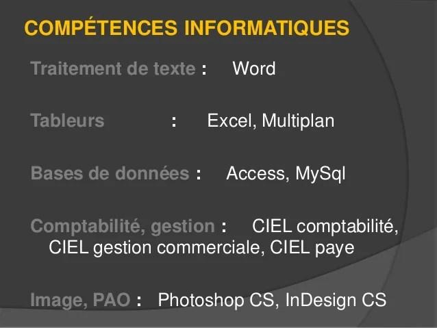 competences informatiques cv mac