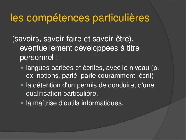 competences informatiques cv indesign