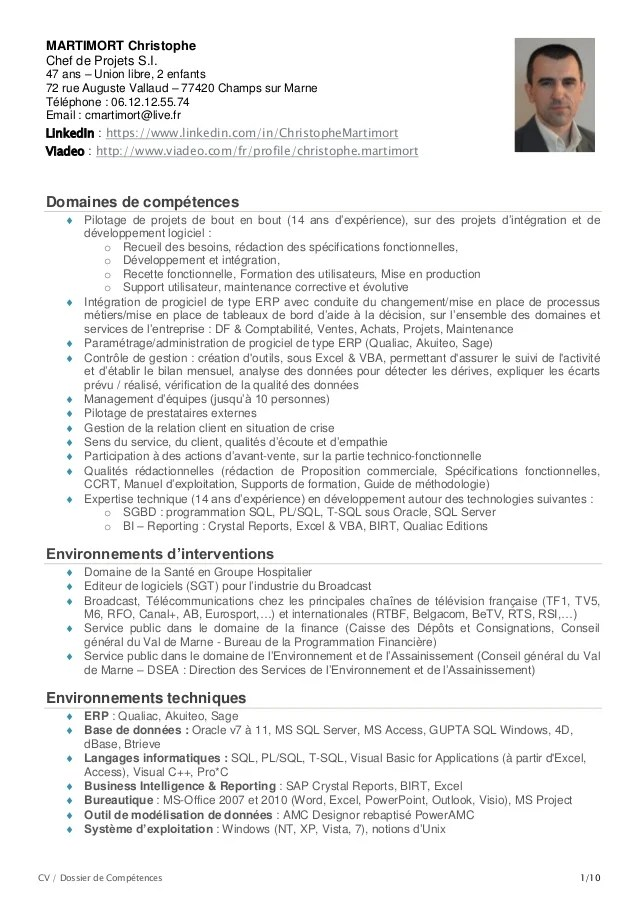 cv technique informatique