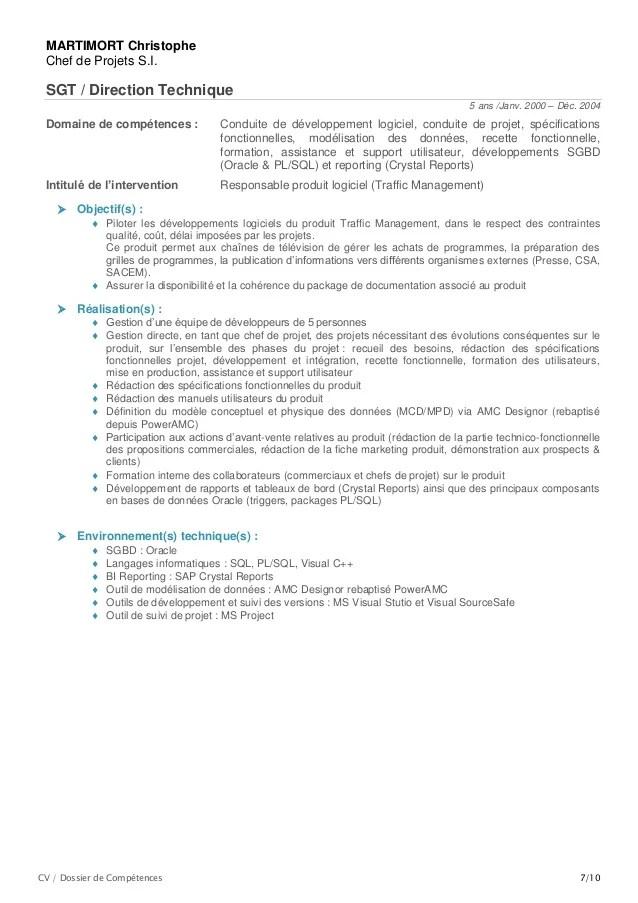 competences environnement technique cv