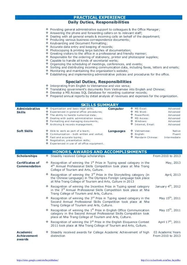 ba graduate resume sample - Alannoscrapleftbehind - sample resume for office administrator