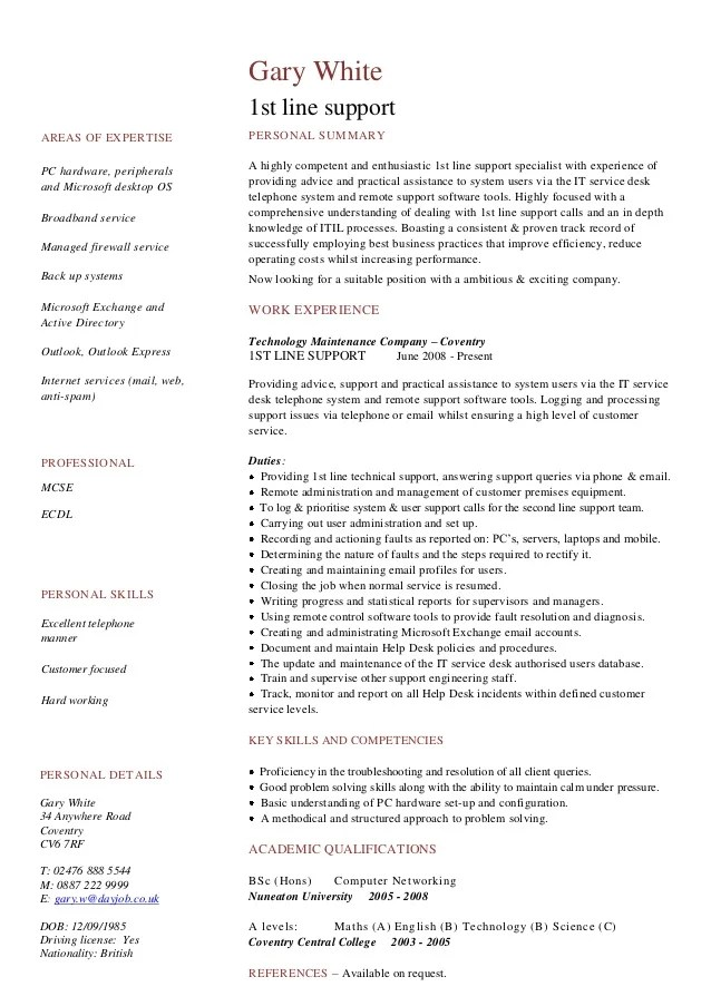 stage manager cv