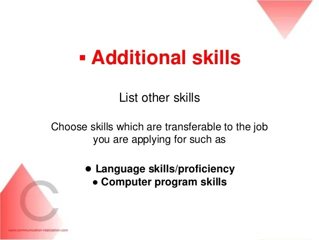 what to write for additional skills on resume - Minimfagency