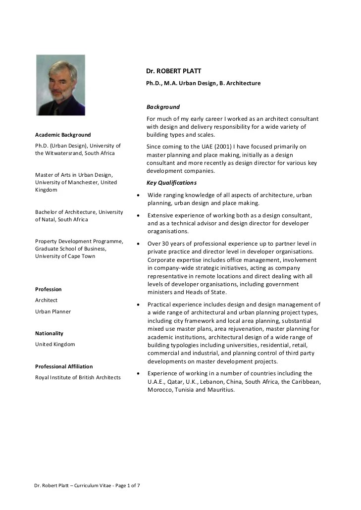 urban planner resume template