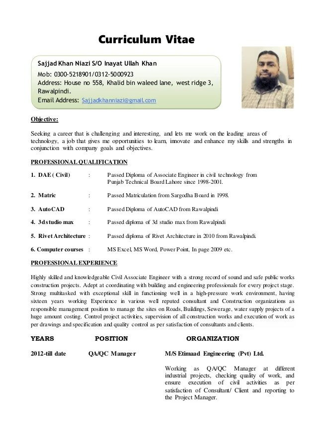 sample resume for civil site engineer - Apmayssconstruction