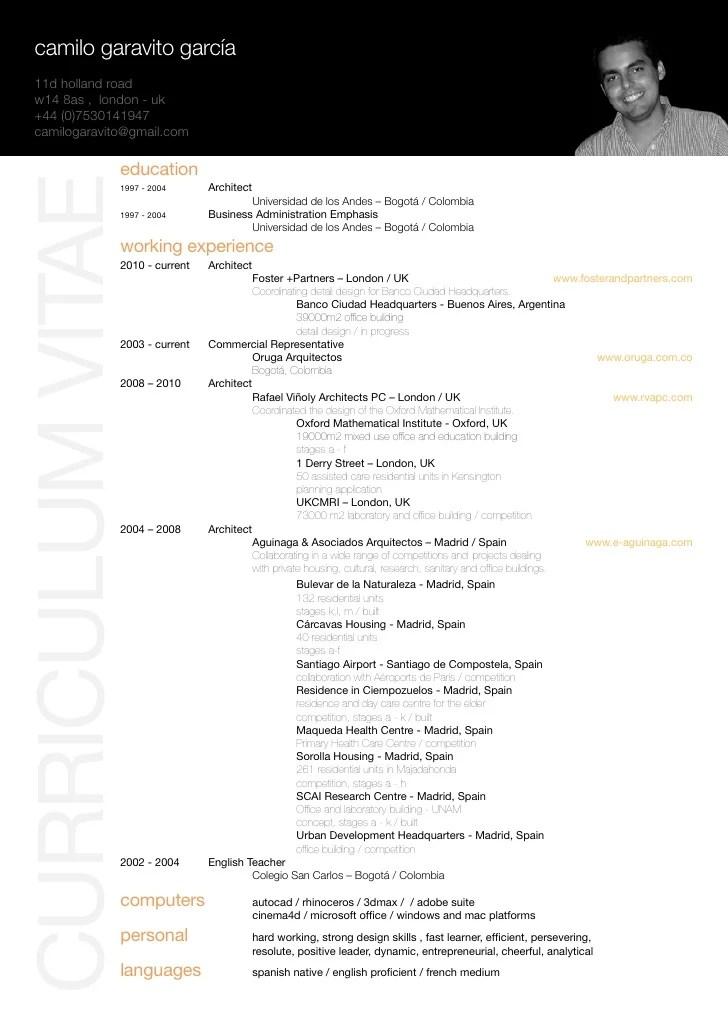 architect resume format - Boatjeremyeaton - architecture resume format
