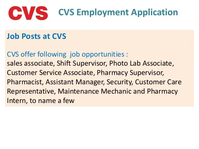 cvs pharmacy service associate job description
