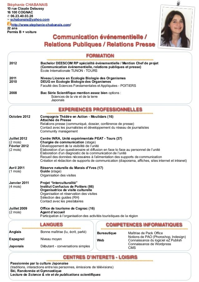 cv attache de presse exemple