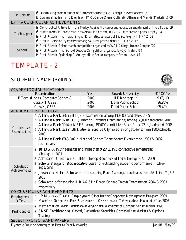 academic resume formats - Intoanysearch - scientific resume template