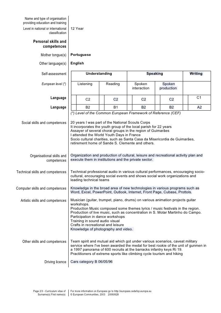 Resume Strengths Examples Key Strengthsskills In A Cv Template En Gb Marco