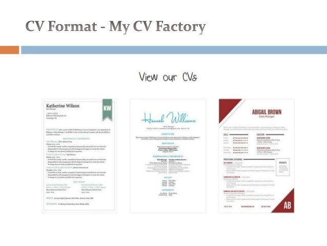 my cv factory ipag