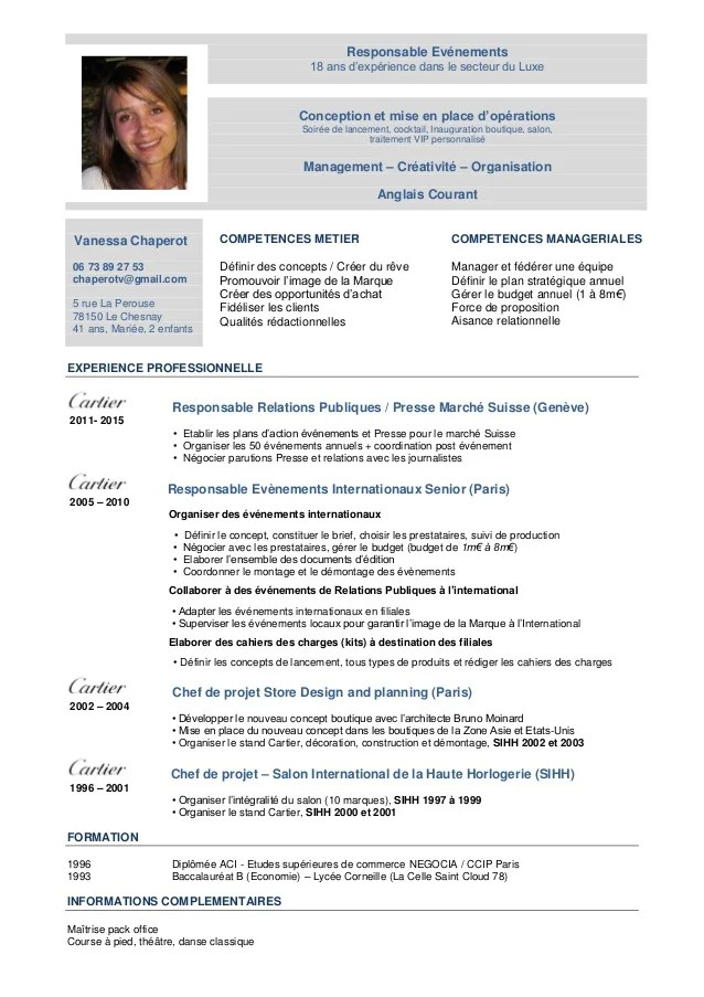cv responsable commercial