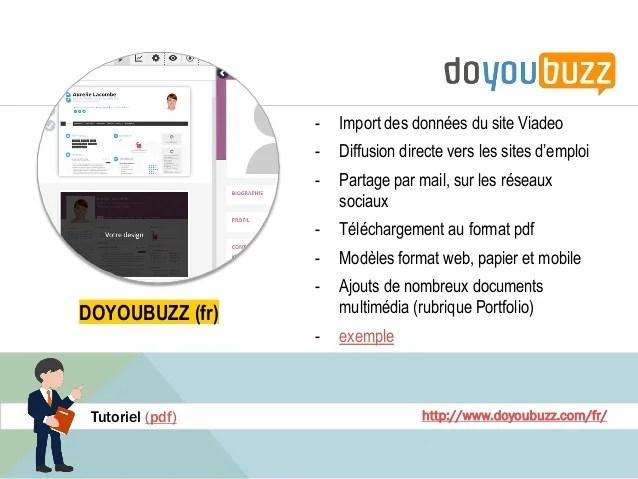 cv en ligne diffusion sur les sites
